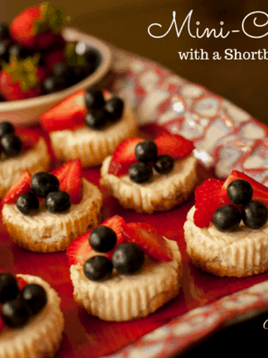 Shortbread Crusted Mini Cheesecakes