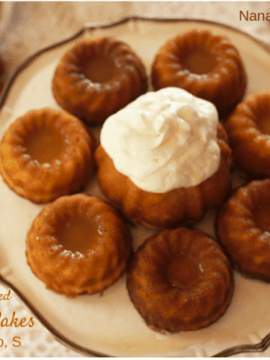 Mini Snack Cakes with a Buttered Rum Glaze