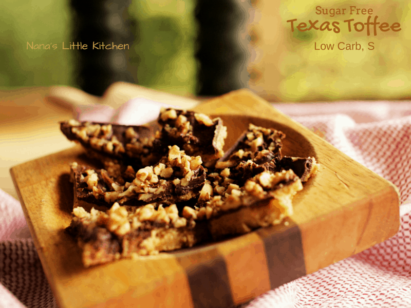 Texas Toffee Bars (Low Carb, Sugar Free, S)