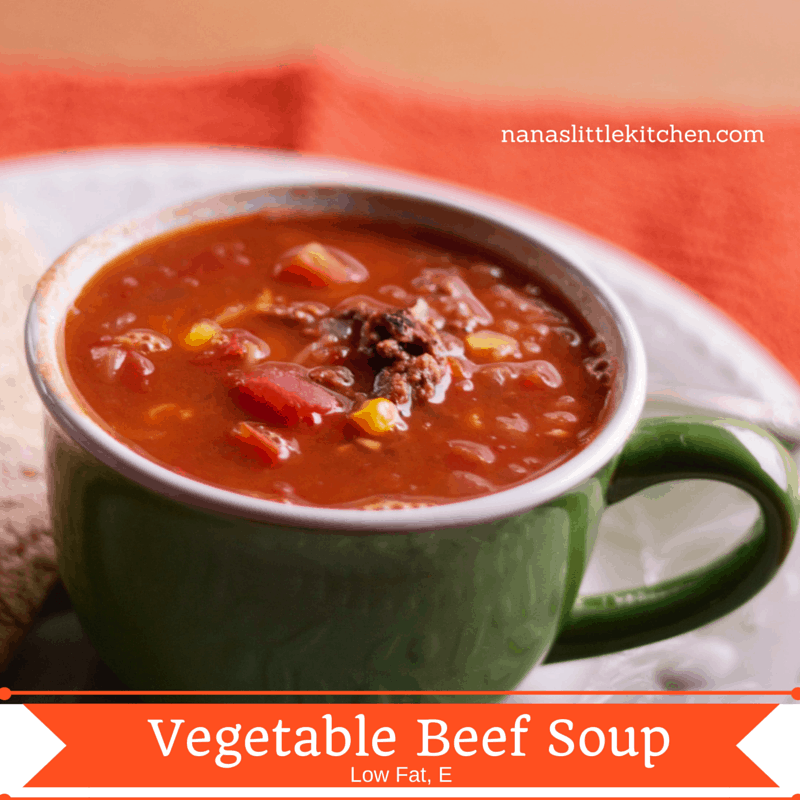 Vegetable Beef Soup Low fat E --2