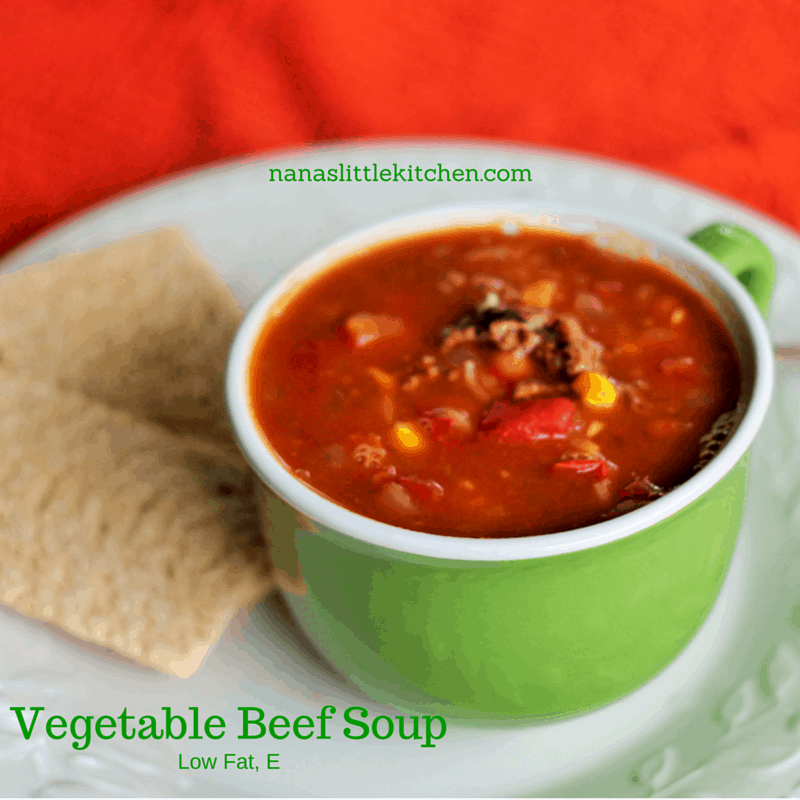 Vegetable Beef Soup Low fat E