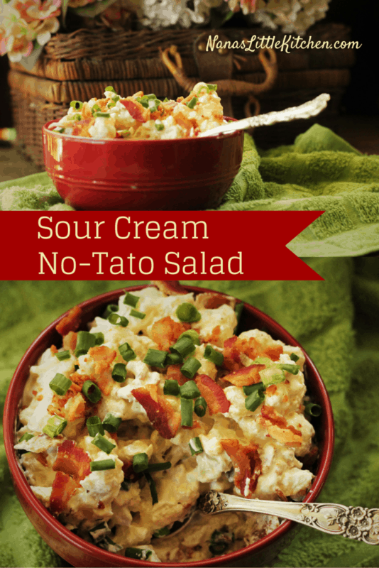 Loaded Sour Cream No-Tato Salad