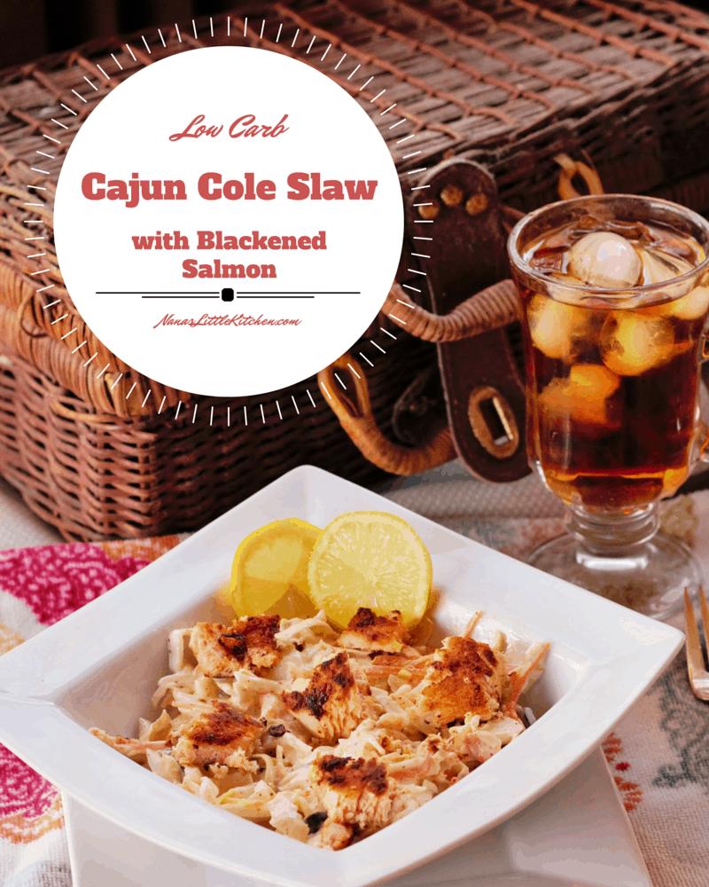 Blackened Salmon Cajun Cole Slaw