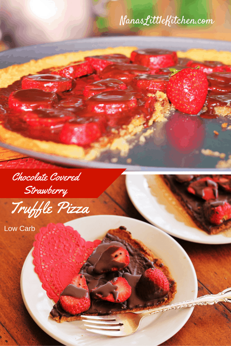 Chocolate Covered Strawberry Truffle Pizza