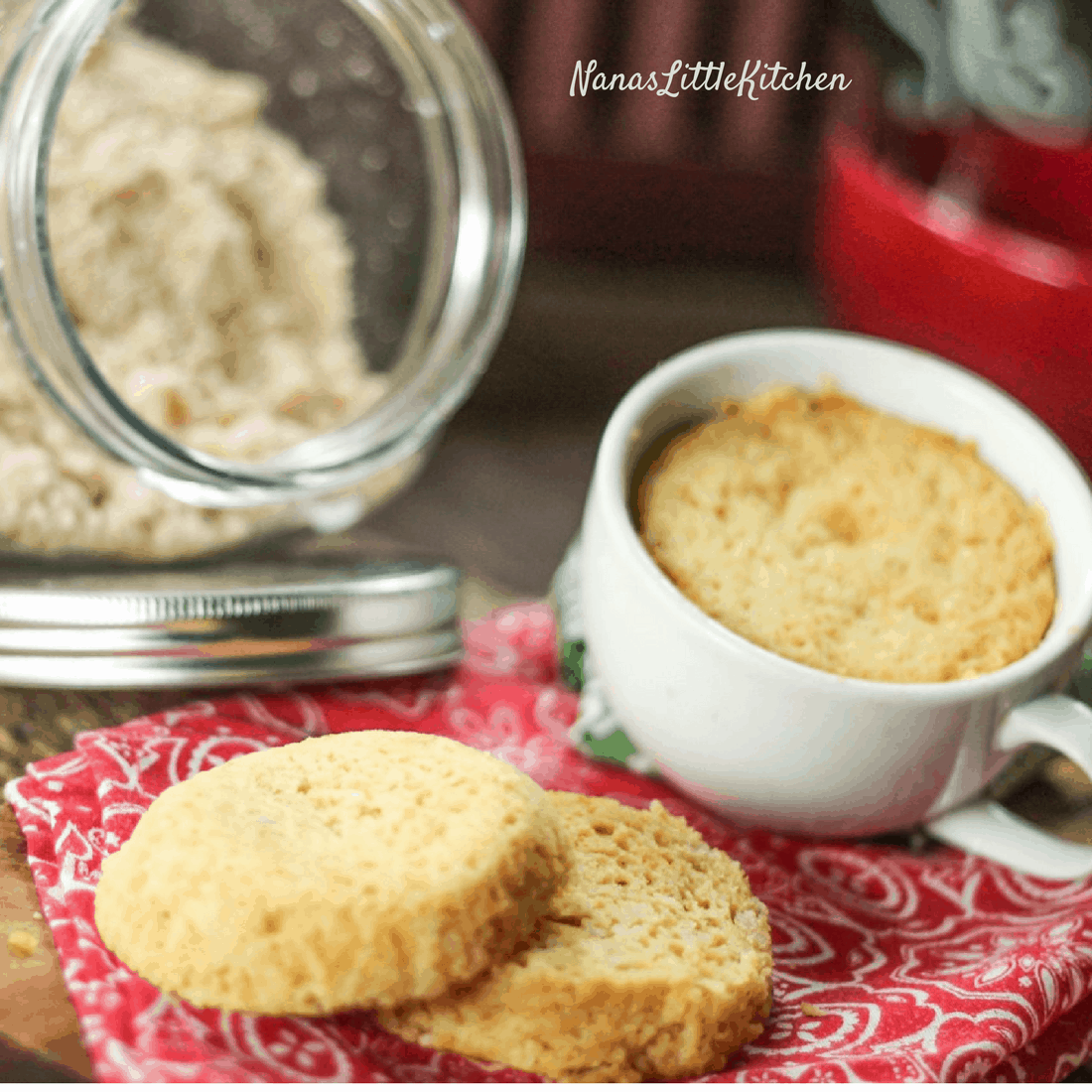 Southern Style Biscuit In A Mug Using Biscuit Mix