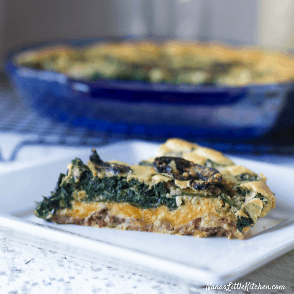 Low Carb Spinach Bacon Quiche