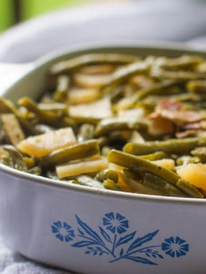 Southern Style Green Beans with Jicama